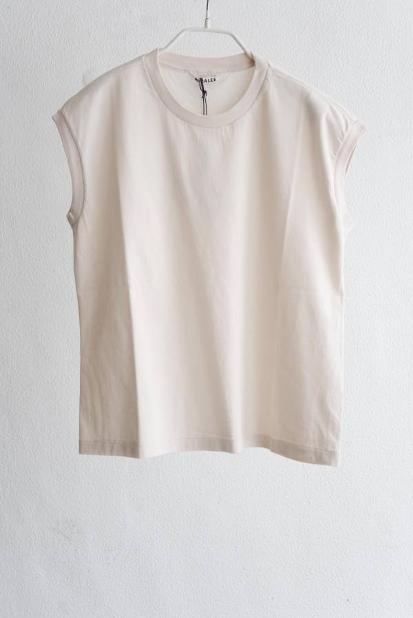 AURALEE - seamless crew neck sleeveless