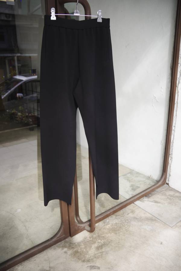 AURALEE - wool polyester rib knit pants