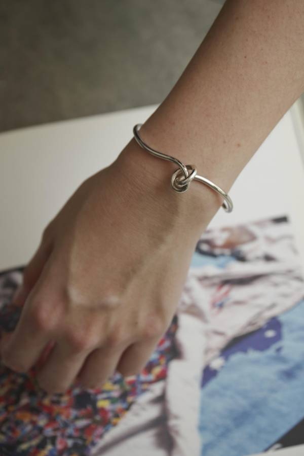 ST, CAT - funny knot bangle / silver