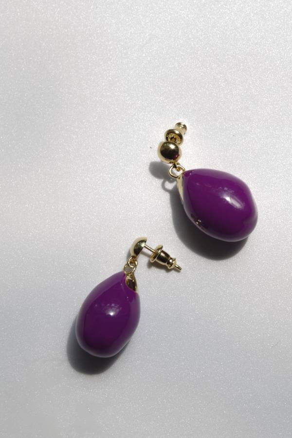 R.ALAGAN - eggplant earrings