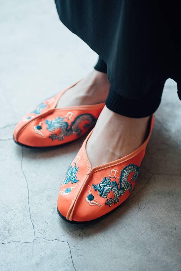 好好穿繡花鞋 - 橘