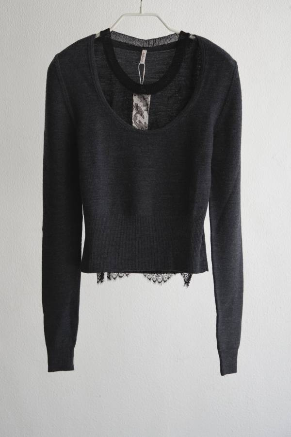 babaco - leavers lace layered pullover