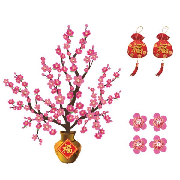 春聯-桃花聚寶盆