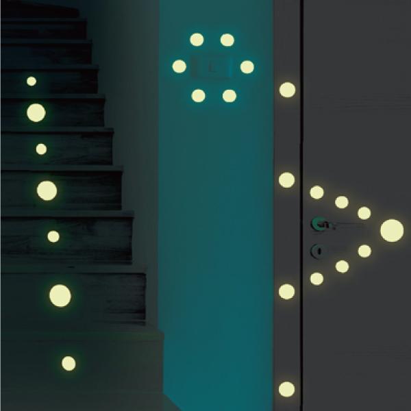 隨變貼-夜光系列 指引方向 靜電,無痕,無殘膠,壁貼,居家,辦公,易貼易撕,佈置,夜光