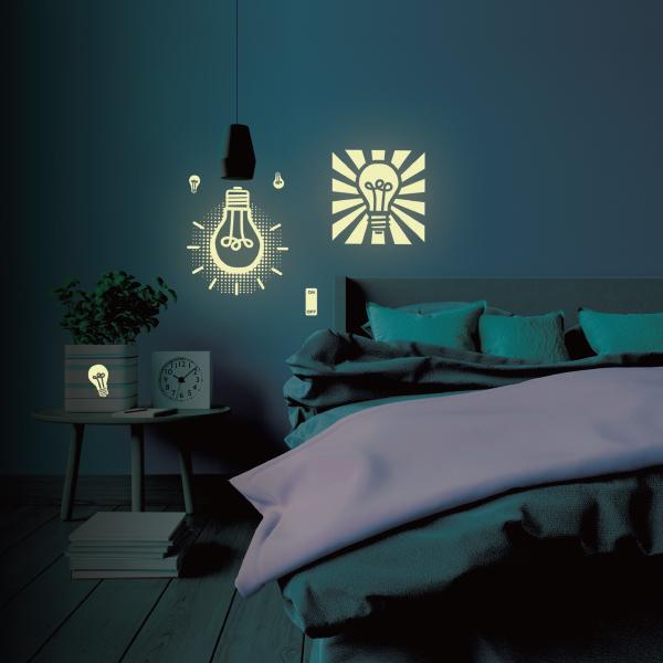 隨變貼-夜光系列 小夜燈 靜電,無痕,無殘膠,壁貼,居家,辦公,易貼易撕,佈置,夜光