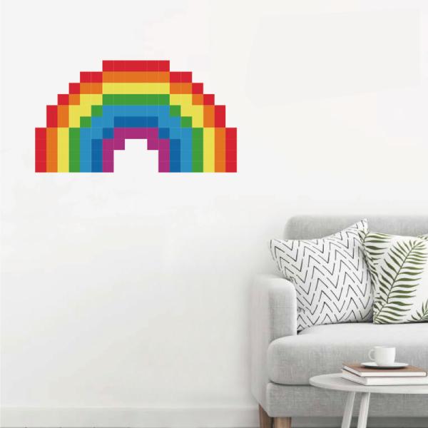 拼圖貼貼 彩虹 靜電,無痕,無殘膠,壁貼,居家,辦公,易貼易撕,佈置,拼圖,DIY