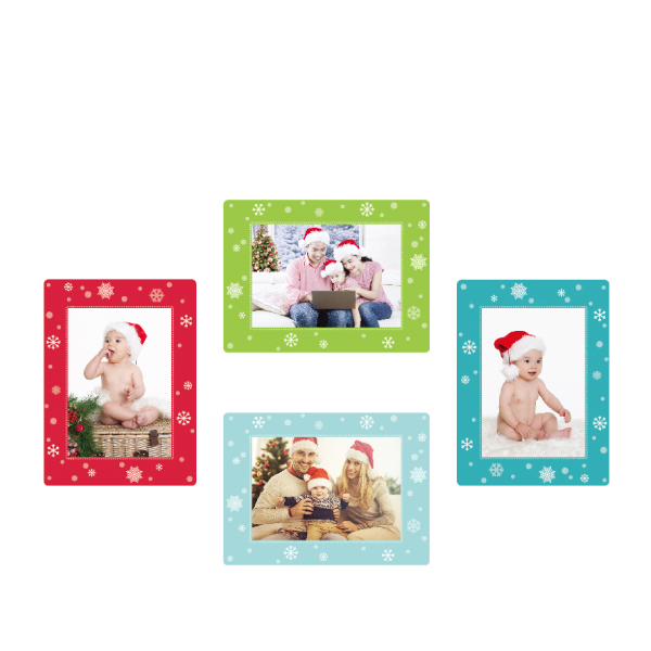 玩美相框貼-雪花框(5吋4入裝) 靜電,無痕,無殘膠,壁貼,居家,相框,易貼易撕,佈置,花色,造型