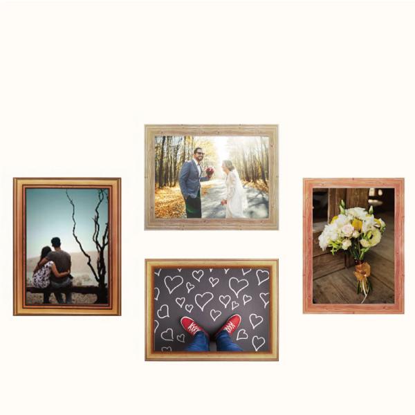 玩美相框貼-木紋框(5吋4入裝) 靜電,無痕,無殘膠,壁貼,居家,相框,易貼易撕,佈置,花色,造型