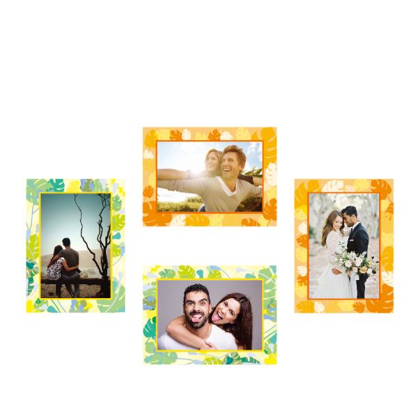 玩美相框貼-清新框(5吋4入裝) 靜電,無痕,無殘膠,壁貼,居家,相框,易貼易撕,佈置,花色,造型