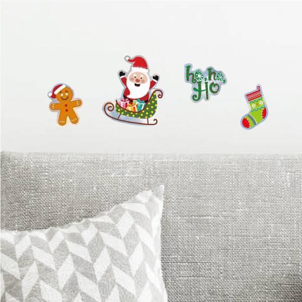好好貼-聖誕老公公貼 靜電,無痕,無殘膠,壁貼,居家,辦公,易貼易撕,佈置