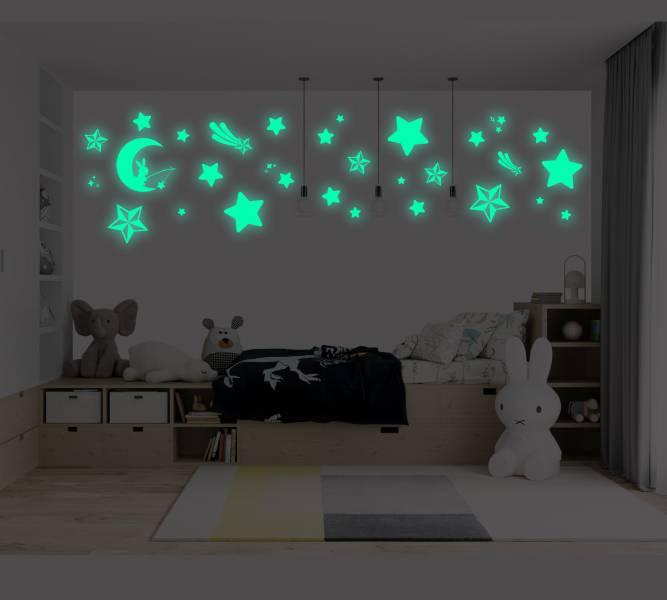 隨變貼-夜光系列 暖心月兔