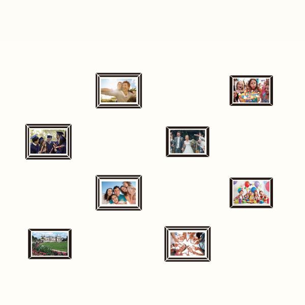 玩美相框貼-時尚黑框(4吋8入裝) 靜電,無痕,無殘膠,壁貼,居家,相框,易貼易撕,佈置,花色,造型