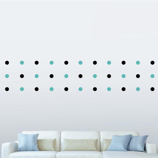 隨變貼-可愛圓點點(黑+藍) 靜電,無痕,無殘膠,壁貼,居家,辦公,易貼易撕,佈置,DIY