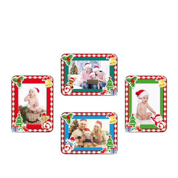 玩美相框貼-節慶限定聖誕框(5吋4入裝) 靜電,無痕,無殘膠,壁貼,居家,相框,易貼易撕,佈置,花色,造型