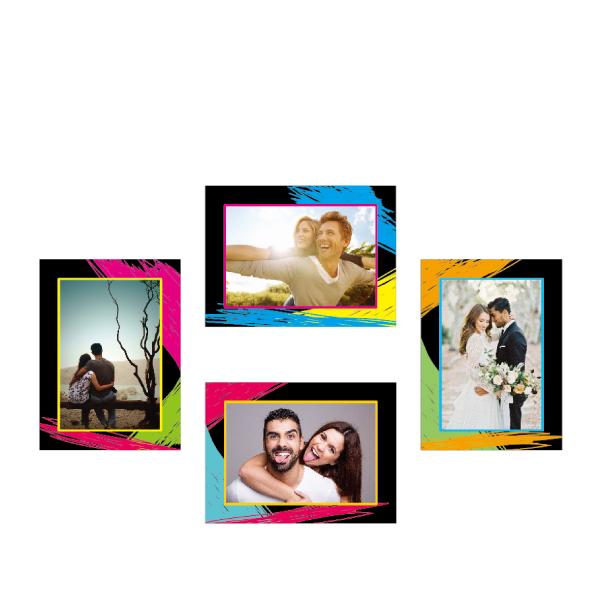 玩美相框貼-現代框(5吋4入裝) 靜電,無痕,無殘膠,壁貼,居家,相框,易貼易撕,佈置,花色,造型