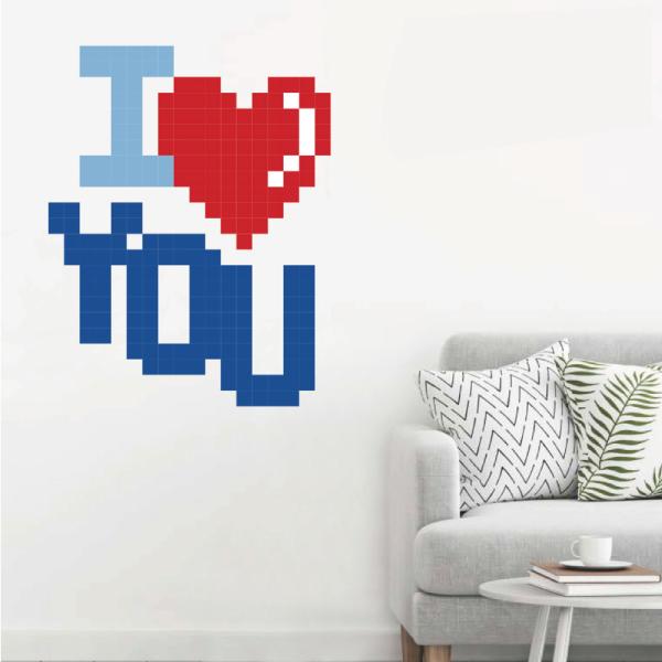 拼圖貼貼 彩色愛 靜電,無痕,無殘膠,壁貼,居家,辦公,易貼易撕,佈置,拼圖,DIY
