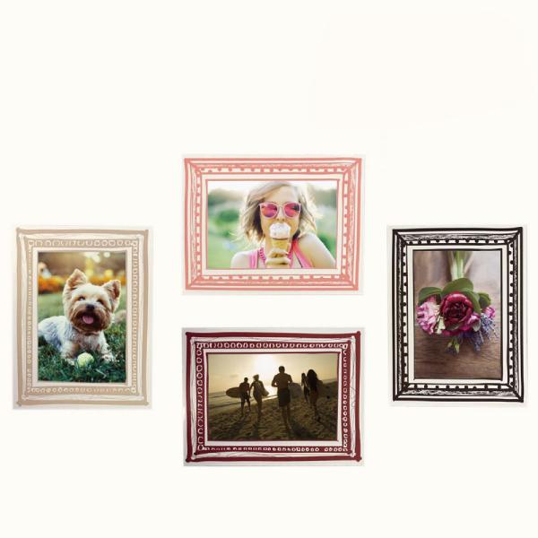 玩美相框貼-莫蘭迪色框(4吋4入裝) 靜電,無痕,無殘膠,壁貼,居家,相框,易貼易撕,佈置,花色,造型