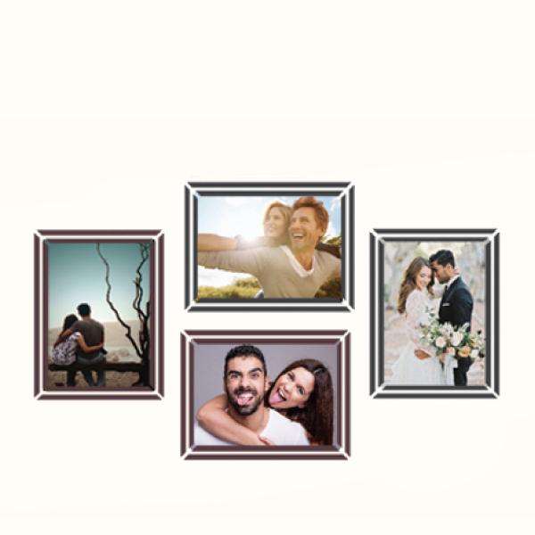 玩美相框貼-極簡黑咖框(4吋4入裝) 靜電,無痕,無殘膠,壁貼,居家,相框,易貼易撕,佈置,花色,造型