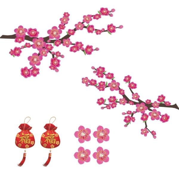 春聯-茂盛桃花