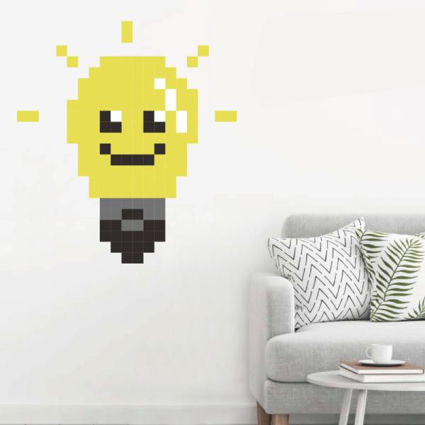拼圖貼貼 燈泡 靜電,無痕,無殘膠,壁貼,居家,辦公,易貼易撕,佈置,拼圖,DIY