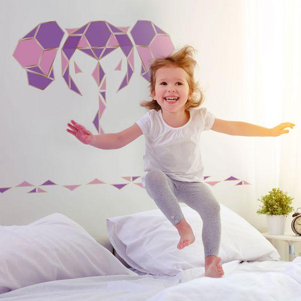 happihood 靜電壁貼-六角形系列 (紫 )