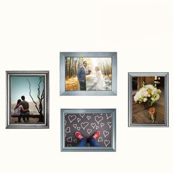 玩美相框貼-金屬銀框(5吋4入裝) 靜電,無痕,無殘膠,壁貼,居家,相框,易貼易撕,佈置,花色,造型