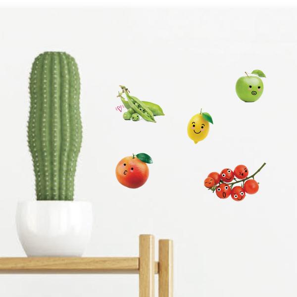 好好貼-蔬菜水果貼 靜電,無痕,無殘膠,壁貼,居家,辦公,易貼易撕,佈置