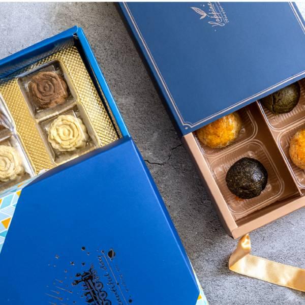 清香鐵觀音豆沙禮盒組 甜野新星、中秋月餅、中秋節、無糖、無麩、生酮飲食、低負擔甜點、甜點鞥、茶