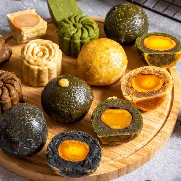 輕茶系月餅禮盒組 甜野新星、中秋月餅、中秋節、無糖、無麩、生酮飲食、低負擔甜點、甜點鞥、茶