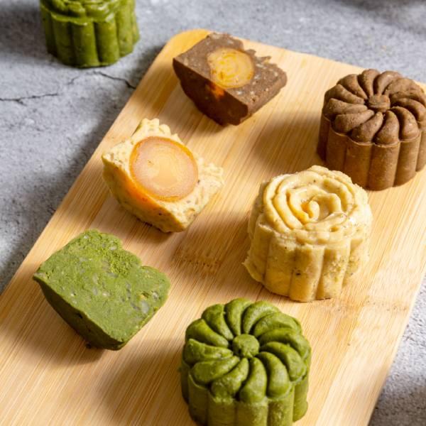 花瓣紅玉豆沙禮盒組 甜野新星、中秋月餅、中秋節、無糖、無麩、生酮飲食、低負擔甜點、甜點鞥、茶