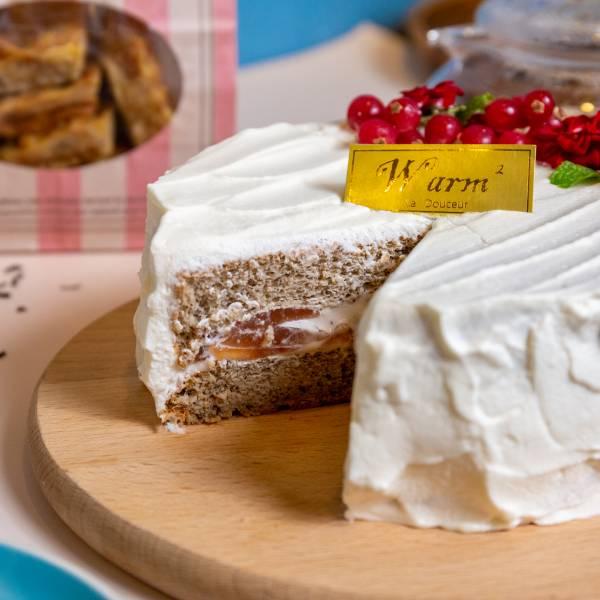 【限台中自取】6吋-伯爵夾心蛋糕 台北美食,信義區,生酮甜點,巧克力,蛋糕,健身美食,生酮飲食,低碳,杯子蛋糕