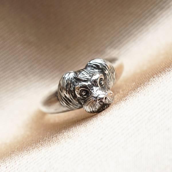 猛虎动物造型雕刻纯银戒指|戒指推荐 純銀動物戒指