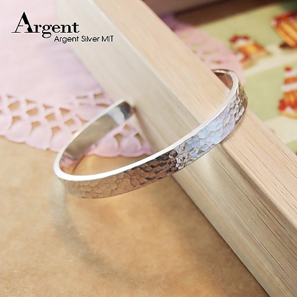 8mm「甜蜜烙印」手工系列純銀手環|925銀飾 純銀手環