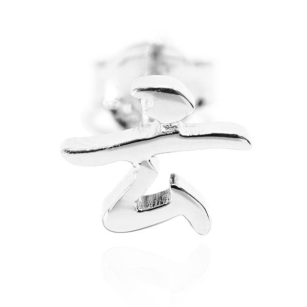 耳針耳貼款中文單字純銀耳環銀飾|客製化耳環(單只價) 名字耳環