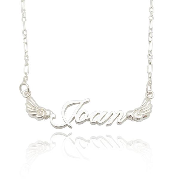 雲翼款英文名字純銀項鍊|名字項鍊客製化訂做 名字項鍊