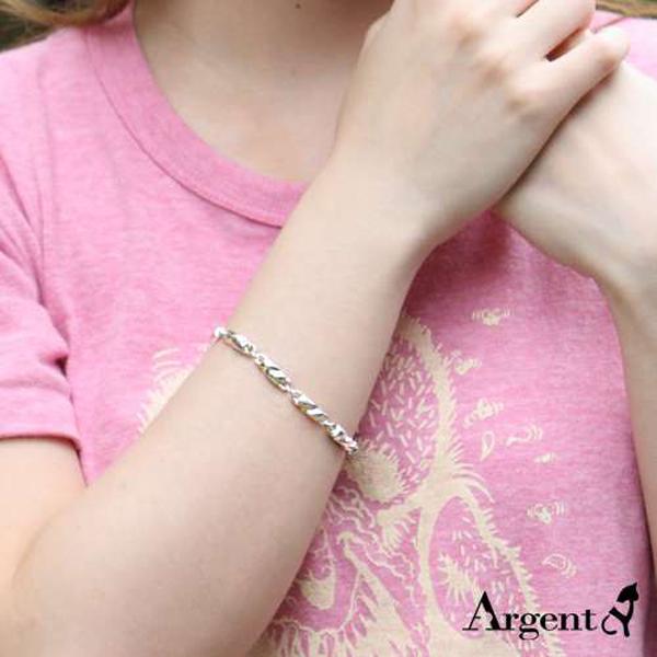 粗款「波纹」系列纯银手链|925银饰 纯银手链