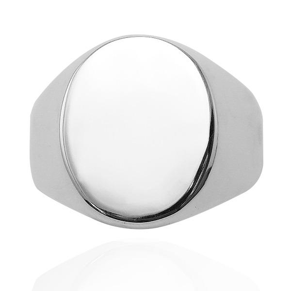 印章戒(橢圓形)純銀戒指|925銀飾戒指推薦 可加購刻字 印章冠軍戒指