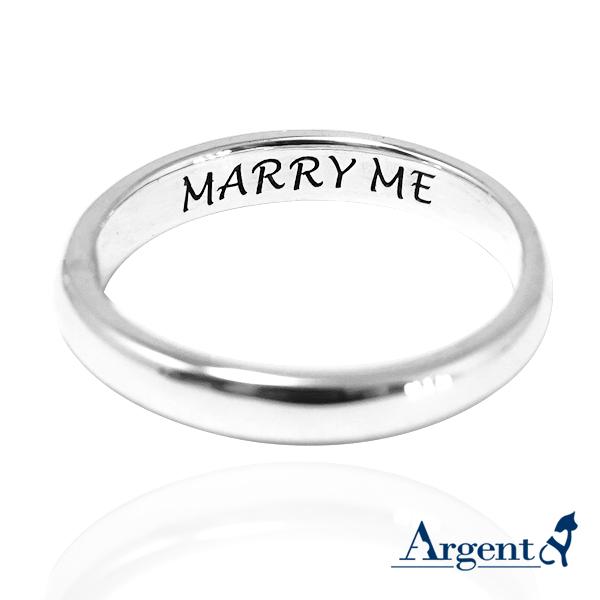 「素雅(3mm/4mm)」客製化刻字-純銀戒指 925銀飾戒指推薦 戒指推薦