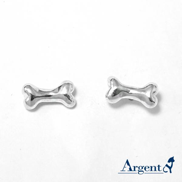 迷你狗骨头造型纯银耳环推荐|925银饰 迷你狗骨头造型纯银耳环推荐|925银饰