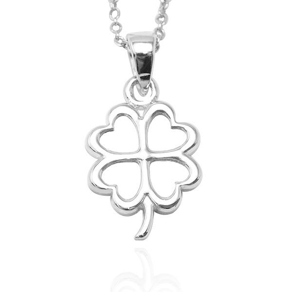 立體幸運草造型雕刻純銀項鍊銀飾|銀項鍊推薦 銀項鍊推薦