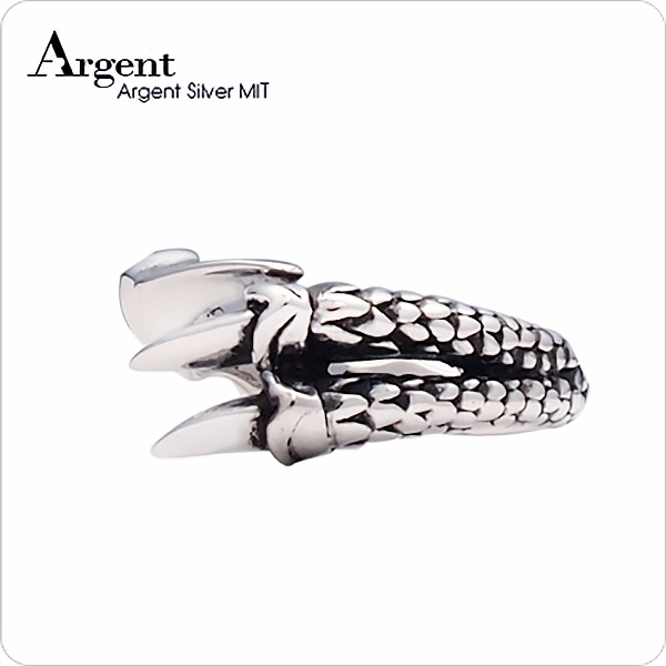 小龍爪造型設計雕刻純銀戒指|戒指推薦 戒指推薦