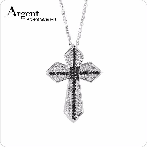 信仰雙十鑲鑽純銀項鍊銀飾|銀項鍊推薦 銀項鍊推薦