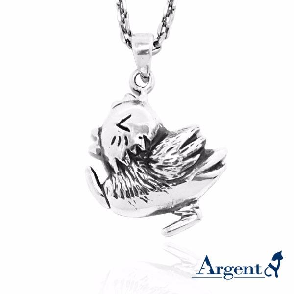 眨眼雞可愛造型純銀項鍊銀飾|銀項鍊推薦 銀項鍊推薦