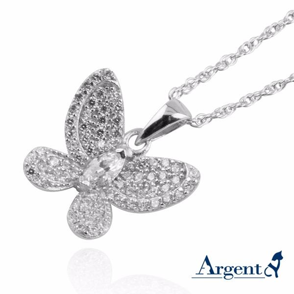 「閃蝶」造型雕刻純銀項鍊銀飾|銀項鍊推薦 銀項鍊推薦