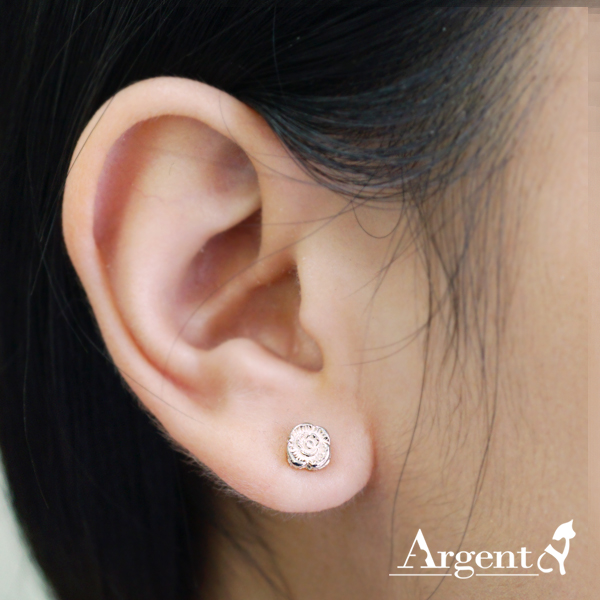Rose heart earrings silver earrings | 925 silver 純銀耳環推薦