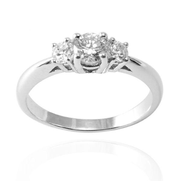 單戒-「閃耀(主鑽30分+10分小鑽*2(14K/18K 培育真鑽)」K金戒指|戒指推薦(單只價) 求婚戒