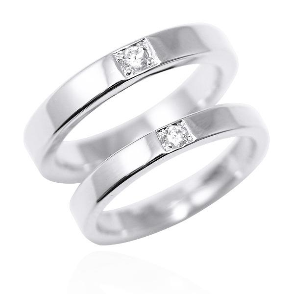 對戒-「永恆(寬+細)」14K/18K 培育真鑽-鑲鑽簡約設計K金情人戒指|求婚戒指推薦(一對價) 婚戒推薦