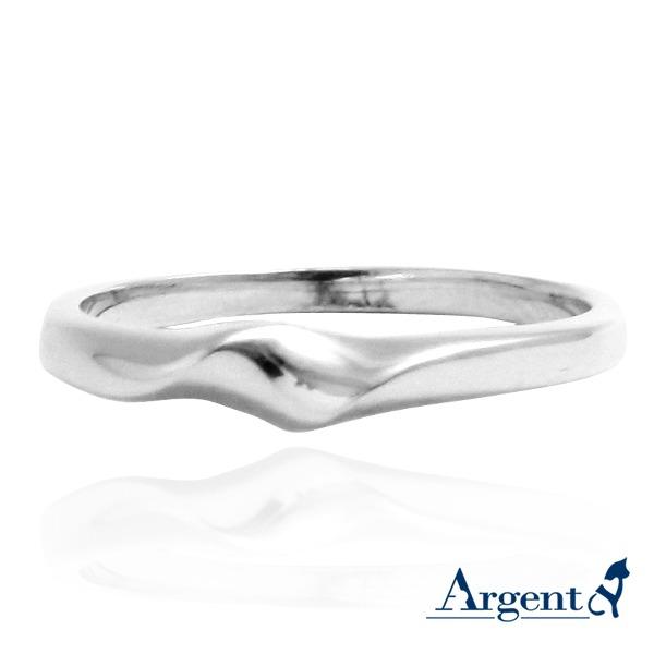「波紋」造型純銀戒指|925銀飾戒指推薦 戒指推薦
