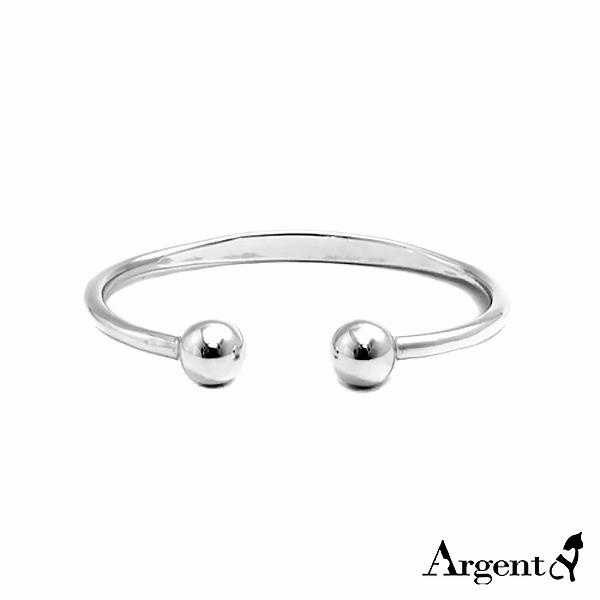 「環珠」優雅簡約純銀手環|925銀飾(可加購刻字) 純銀手環