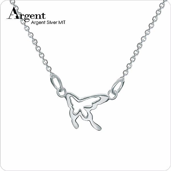 「小蝶」(4色)造型簍空純銀項鍊銀飾 銀項鍊推薦 銀項鍊推薦